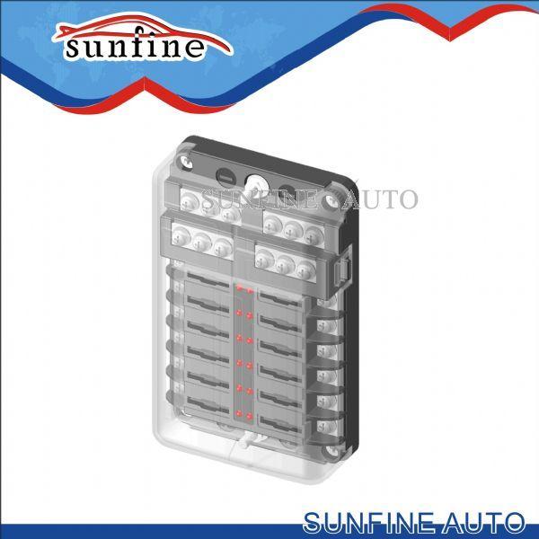uxcell 4pcs 30A Flat Fuse Strip Metal Silver Tone for Car Automotive DC 32V 42x12mm